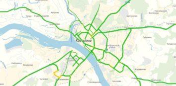 Пробки в Костроме онлайн