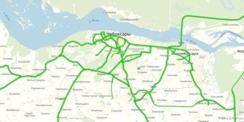 Пробки в Чебоксарах онлайн сейчас на карте Яндекс