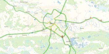 Пробки в Тюмени онлайн сейчас на Яндекс карте