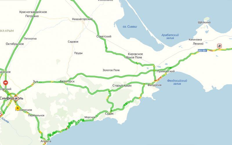 Яндекс пробки на Тавриде сейчас онлайн на карте Яндекс