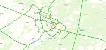 Карта пробок в Брянске