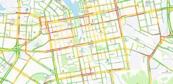 Пробки в Екатеринбурге 6 октября 2020 года на карте Яндекс