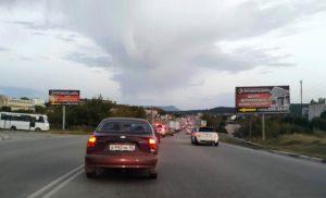 Дорожная ситуация — пробка на дороге