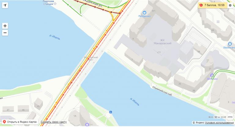 Макаровский мост Екатеринбург